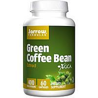 Экстракт зелёных кофейных зёрен, Кофе для похудения, Jarrow Formulas, 400 мг, 60 к