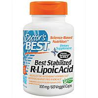 R-липоевая кислота, Doctor's Best, 100 мг, 60 кап.