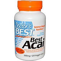 Асаи, Doctor's Best, 500 мг, 120 капсул