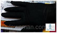 Нитриловые одноразовые не стерильные перчатки черные размер M, пара