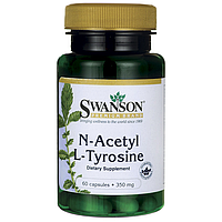 N-ацетил L-тирозин, Acetyl L-Carnitine, Swanson, 350 мг, 60 капсул