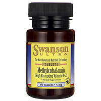 Метилкобаламин В12, Swanson, 5000 мг, 60 таблеток