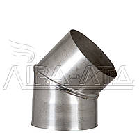 Колено Ф120 45° Сталь усиленная AiSi304 0,5мм