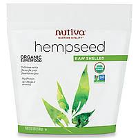 Органическое конопляное семя, сырое, очищенное, Nutiva, 539 г, купить, цена, отзывы