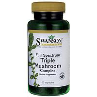 Лечебные грибы тройной комплекс, Swanson, 60 капсул