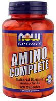 Аминокислоты полный комплекс, Now Foods, Amino Complete, 120 капсул