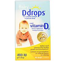 DDrops жидкий витамин Д3 для детей, 400 мкг, 90 капель
