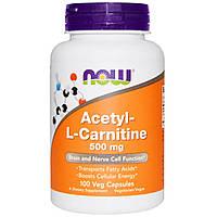 Карнитин, Now Foods, 500 мг, 100 капсул