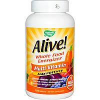 Поливитамины Максимальная Энергия, с железом, Nature's Way Alive!, 180 таблеток