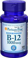 Витамин В-12, цианокобаламин, Puritan's Pride, 1000мкг, 100 капсул