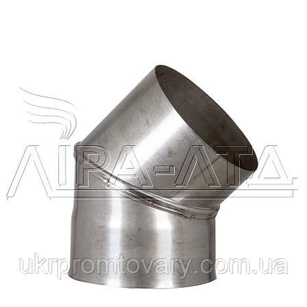 Колено Ф140 45° Сталь усиленная AiSi304 1,0мм, фото 2