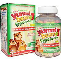 Кальций+ витамин D3, для детей, Hero Nutritional Products, 90 жевательных медвежат