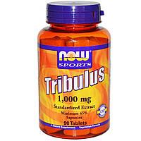 Трибус, Now Foods, Спорт, трибулус, 1000 мг, 90 таблеток