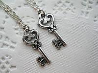 Парные кулоны «Сердечный ключ»