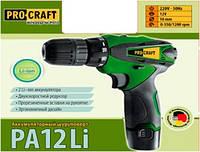Шуруповерт аккумуляторный ProCraft PA12Li