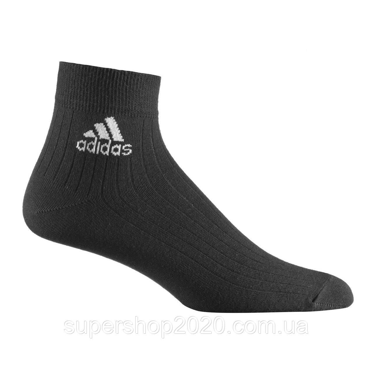 Шкарпетки Adidas Ankle Ribbed Thin чорні Z25668, розмір - 39-42