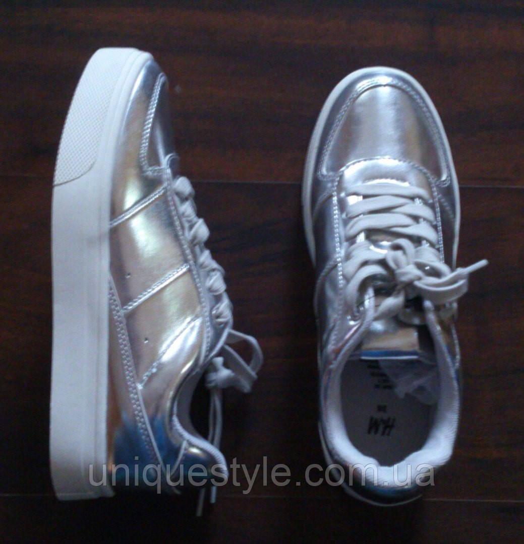 853c2669 Серебристые кеды кроссовки H&M оригинал с Германии купить в Ужгороде ...