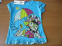 Детские нарядные футболки для девочек 1- 2 года  Турция хлопок , фото 1