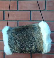 Муфта из натурального меха кроля, фото 1