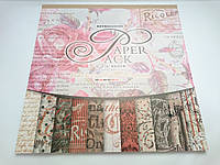 Бумага для скрапбукинга альбом 24+3 листа наклеек