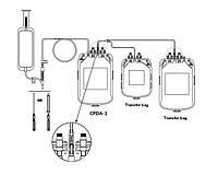 Потрійні контейнери для взяття крові з розчином ЦФДА-1