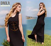 Женское длинное летнее платье  Якорь