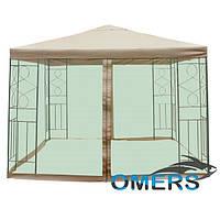 Шатер садовый павильон Полиэстер с москитной сеткой 3м *3 м