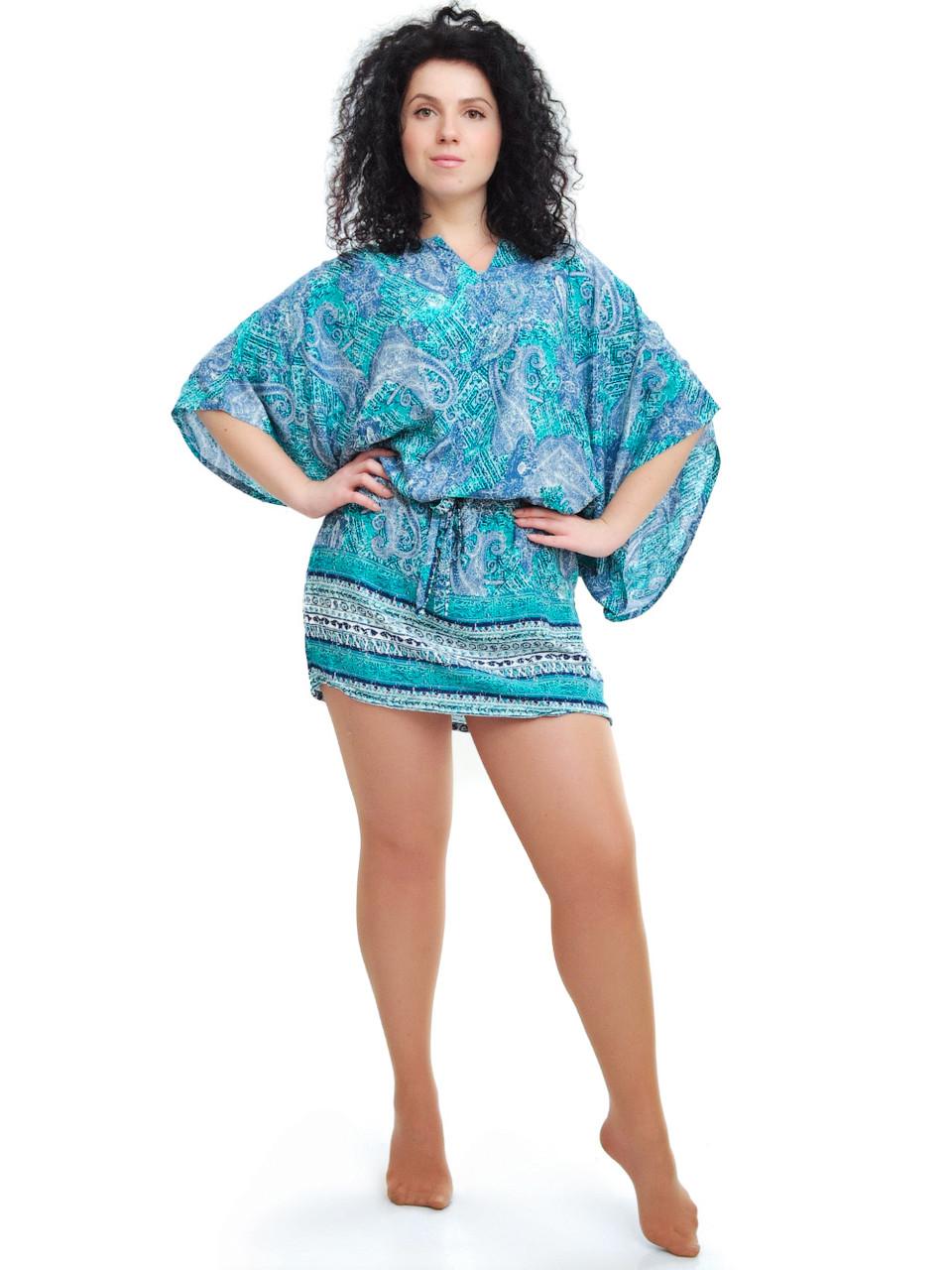 Женское стильное летнее платье из штапеля