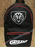 Рюкзак ГРИЗЛИ черный спортивный спорт городской Рюкзак стильный  Оксфорд ткань GRIZZLY только оптом