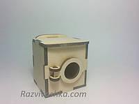 Кукольная мебель Стиральная машина для кукол 5-7 см (под роспись, декупаж), фото 1