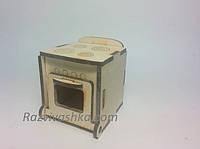 Кукольная мебель Плита кухонная для кукол 5-7 см (под роспись, декупаж), фото 1
