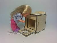 Кукольная мебель Плита кухонная для кукол 10-15 см (под роспись, декупаж), фото 1