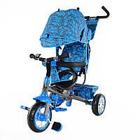 Детский трехколесный велосипед  T-341-2 синий