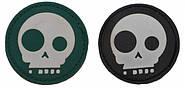 Патч ПХВ на липучке Geek skull