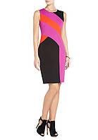Черное платье Klimeda оригинального дизайна с яркими вставками KM70282