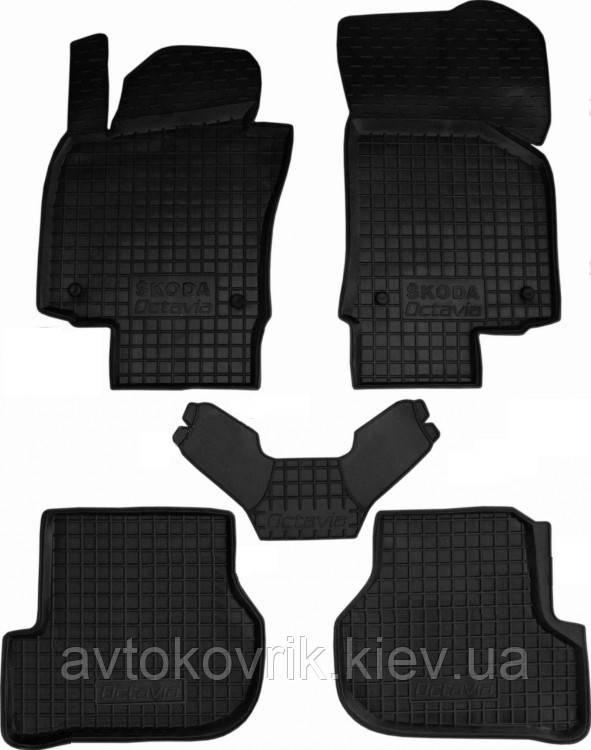 Полиуретановые коврики в салон Skoda Octavia II (A5) 2004-2013 (AVTO-GUMM)