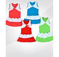Платье летнее для девочки Лада, 100 % хлопок, кулир, р.р. 26-32.