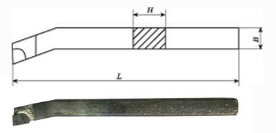 Різець розточний для наскрізних отворів 20х20х200 Т5К10 ГОСТ 18882 2140-0008