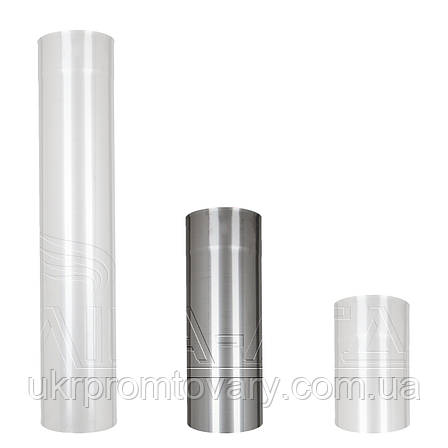 Труба дымохода Ф180 0,5м Сталь усиленная AiSi304 0,5мм, фото 2