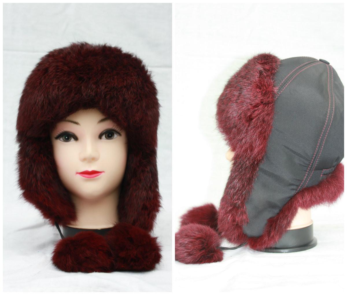 Дитяча хутряна шапка з кролика, вушанка, від виробника, різні кольори