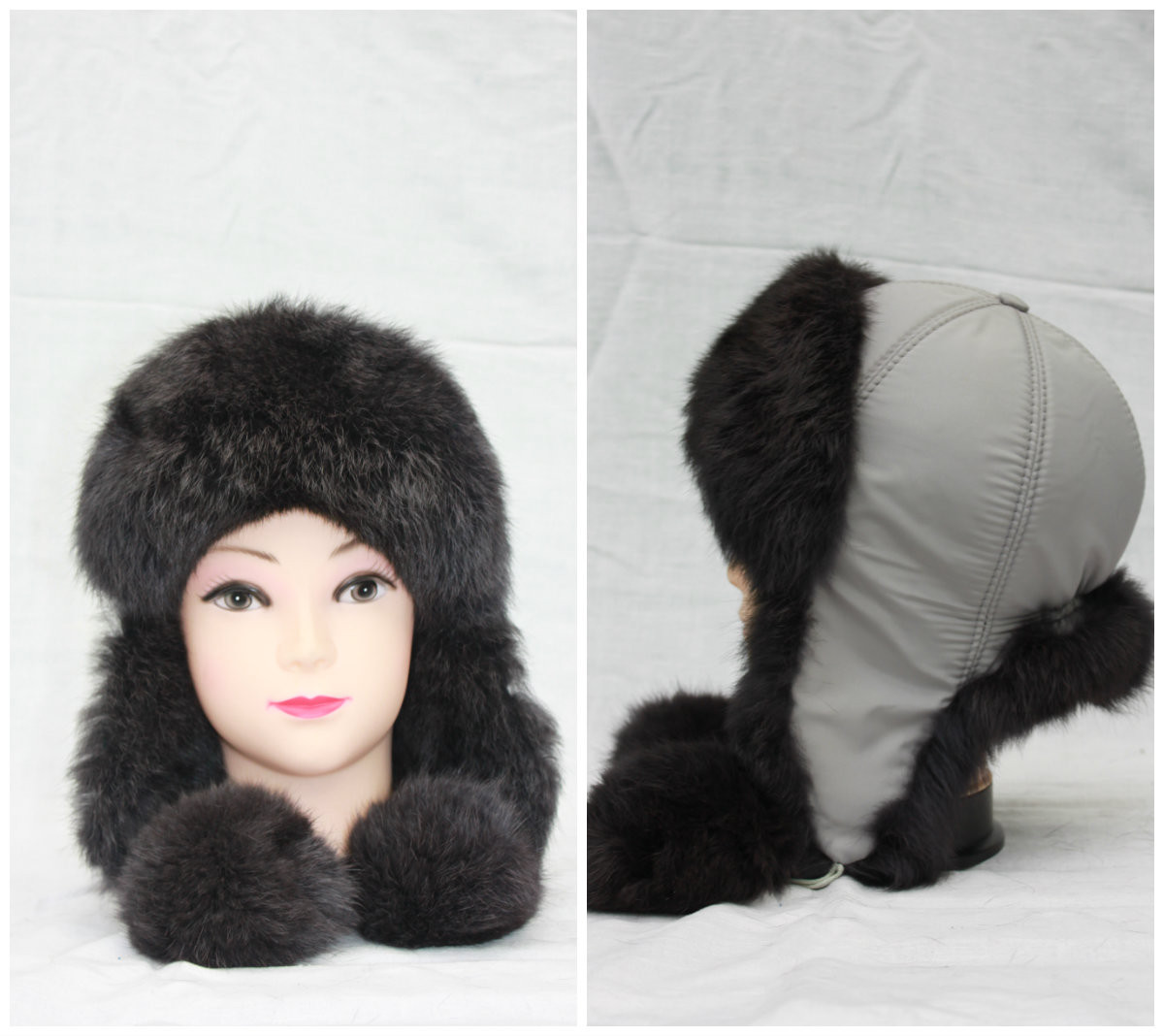 Дитяча зимова шапка з кролика, вушанка, від виробника, різні кольори