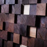 Деревянная стеновая панель Black Cube, фото 1