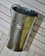 Ведро жестяное декоративное, высота 14 см, диаметр 7/9 см