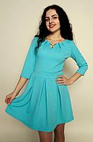 Молодежное трикотажное платье