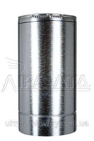 Труба термо 0,5м Ф150/220 нерж/оц Сталь усиленная AiSi304 0,8мм, фото 2