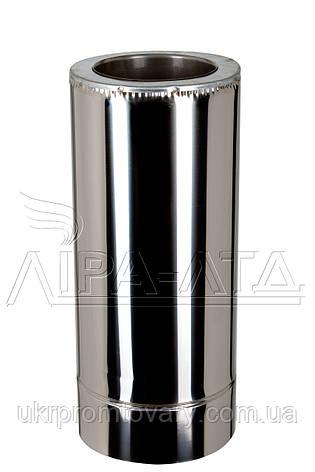 Труба термо 0,5м Ф130/200 нерж/нерж Сталь усиленная AiSi321 1,0мм, фото 2