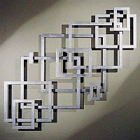 Панно металлическое Квадрат, фото 1