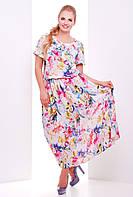 Красивое платье из шифона-большие размеры
