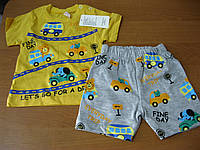 Детские летние костюмы для мальчиков 74 см Турция хлопок