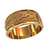 Кольцо мужское серебряное Дракон 750280, фото 2